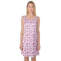 Pink Bunny Pattern Sleeveless Satin Nightdress by CoolDesigns