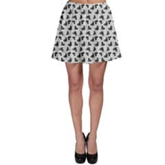 Gray Pattern With Butterfly Skater Skirt by CoolDesigns