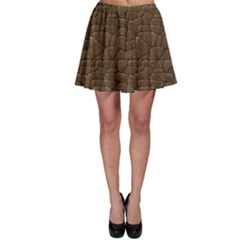 Brown Of Brown Stone Pattern Skater Skirt by CoolDesigns
