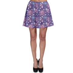 Blue Abstract Pattern With Star On Blue Skater Skirt by CoolDesigns