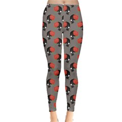 Colorful Pattern With Skulls Leggings