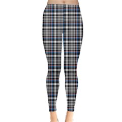 Dark Plaid Pattern Leggings by CoolDesigns