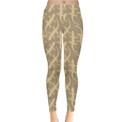 Brown Gecko Leggings by CoolDesigns