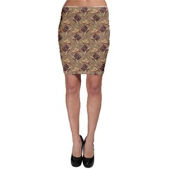 Brown Cowboy Pattern Vintage Image Bodycon Skirt by CoolDesigns