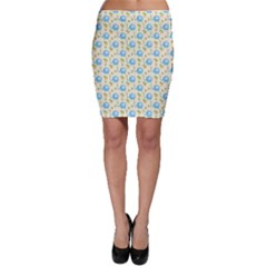 Yellow Tree Elephants Cute Pattern Bodycon Skirt by CoolDesigns