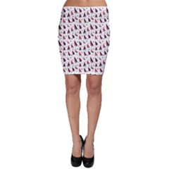 Purple Pattern With Nautical Elements Bodycon Skirt by CoolDesigns