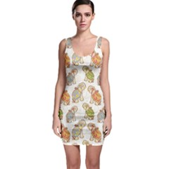 Colorful Indian Elephant Pattern Bodycon Dress by CoolDesigns
