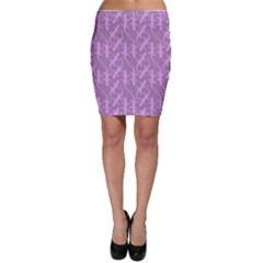 Purple Tone Cute Gecko Shape Pattern Bodycon Skirt by CoolDesigns