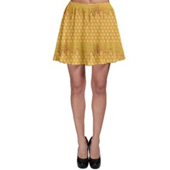 Yellow Honeycomb With Honey Skater Dress by CoolDesigns
