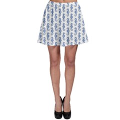 Blue Sea Horse Pattern Skater Dress by CoolDesigns