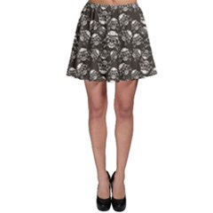 Black Skull In A Military Helmet Skater Dress by CoolDesigns