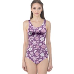 Purple Purple Kimono Florals Pattern Women s One Piece Swimsuit by CoolDesigns