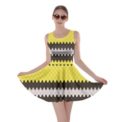 Yellow The Scales Lampropeltis Elapsoides Stylish Design Skater Dress by CoolDesigns