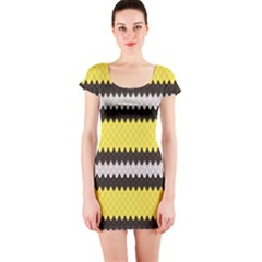 Yellow The Scales Lampropeltis Elapsoides Stylish Design Short Sleeve Bodycon by CoolDesigns