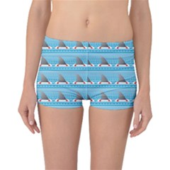 Blue Shark Fin Life Buoy Easy To Edit Boyleg Bikini Bottoms by CoolDesigns