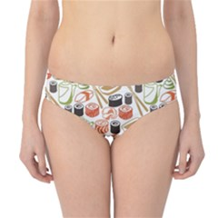Colorful Pattern With Sushi Hipster Bikini Bottom