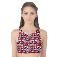 Red Pattern of British Flag Tank Bikini Top by CoolDesigns