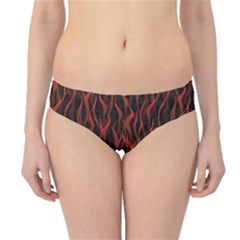 Dark Red Flame Hell Fire Seamless Hipster Bikini Bottom by CoolDesigns
