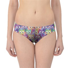 Purple Owls Pattern Hipster Bikini Bottom by CoolDesigns