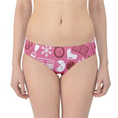 Purple Ice Hockey Sport Blue Pattern Hipster Bikini Bottom