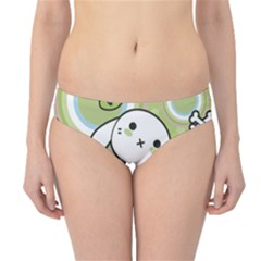 Green Pattern With Doodle Kawaii Hipster Bikini Bottom by CoolDesigns