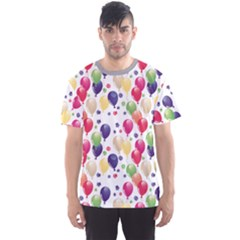 Colorful Pattern with Balloons Stylish Design Men s Sport Mesh Tee by CoolDesigns