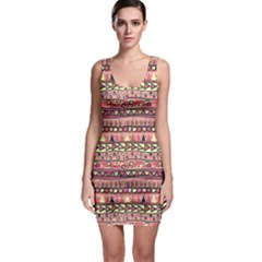 Colorful Pattern In The Mexican Style Bodycon Dress by CoolDesigns