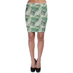 Green Dolphin Pattern Stylish Design Bodycon Skirt by CoolDesigns