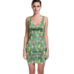 Green Mushrooms Stylish Design Bodycon Dress by CoolDesigns