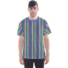 Blue Pattern With Mushrooms Men s Sport Mesh Tee by CoolDesigns