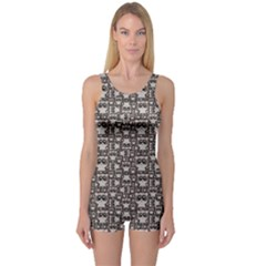 Dark Pattern With Cute Baby Pandas Women s One Piece Swimsuit by CoolDesigns