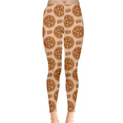 Yellow Pizza Pattern Stylish Design Leggings by CoolDesigns