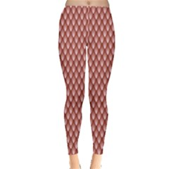 Pink The Scales Of A Snake Fish Dragon Or Other Animal Leggings by CoolDesigns