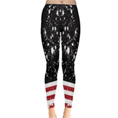 Ink Design American Flag Leggings  by CoolDesigns