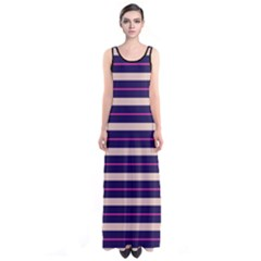 Magneta Stripes Sleeveless Maxi Dress by CoolDesigns