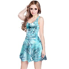 Aqua Tie Dye Sleeveless Dress by CoolDesigns