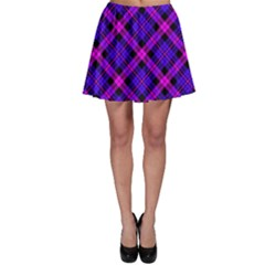 Magenta Plaid Skater Skirt by CoolDesigns