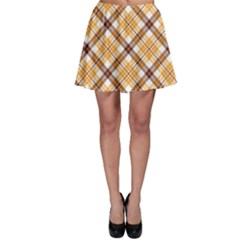 Brown Plaid Skater Skirt by CoolDesigns