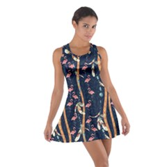 Navy Tribal Cotton Racerback Dress by CoolDesigns
