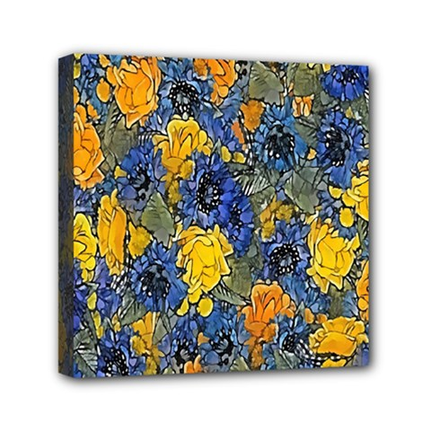 Floral Pattern Background Mini Canvas 6  X 6  by Simbadda