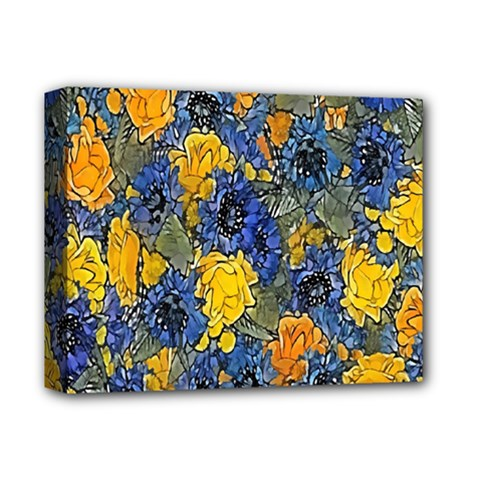 Floral Pattern Background Deluxe Canvas 14  X 11  by Simbadda