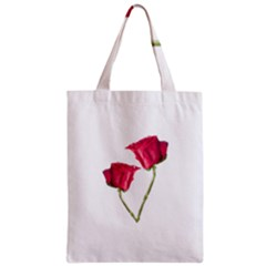 Red Roses Photo Zipper Classic Tote Bag by dflcprints
