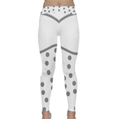 Cool Gel Foam Circle Grey Classic Yoga Leggings by Alisyart
