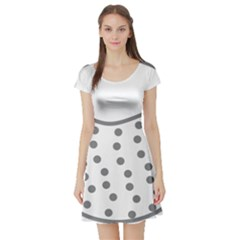 Cool Gel Foam Circle Grey Short Sleeve Skater Dress by Alisyart