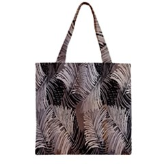 Floral Pattern Background Zipper Grocery Tote Bag by Simbadda