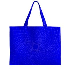 Blue Perspective Grid Distorted Line Plaid Zipper Mini Tote Bag by Alisyart