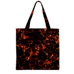 Fiery Ground Grocery Tote Bag by Alisyart
