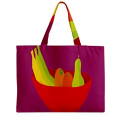 Fruitbowl Llustrations Fruit Banana Orange Guava Medium Tote Bag by Alisyart
