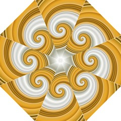Golden Spiral Gold White Wave Straight Umbrellas by Alisyart