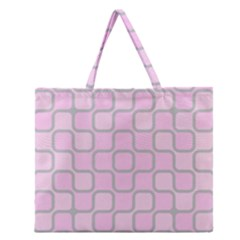 Light Pastel Pink Zipper Large Tote Bag by Alisyart